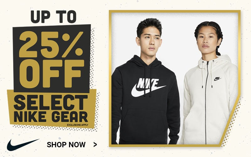 Up to 25% Off Select Nike Gear. Shop Now