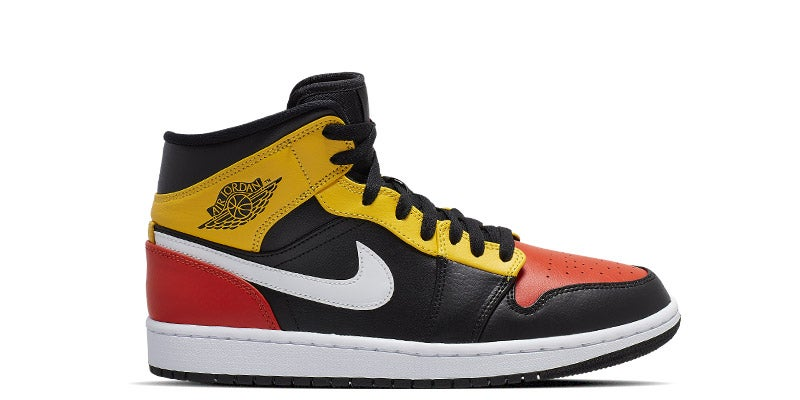 air jordan 1 mid orange foot locker