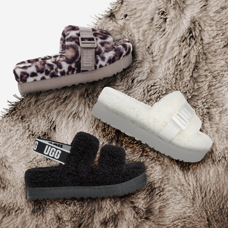 Have your shoe game on ultimate comfort mode in these new UGG slides.