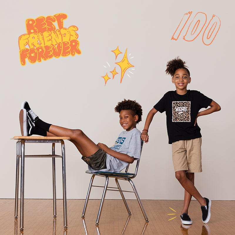 Send your kids back to school in unmatched fits and kicks.