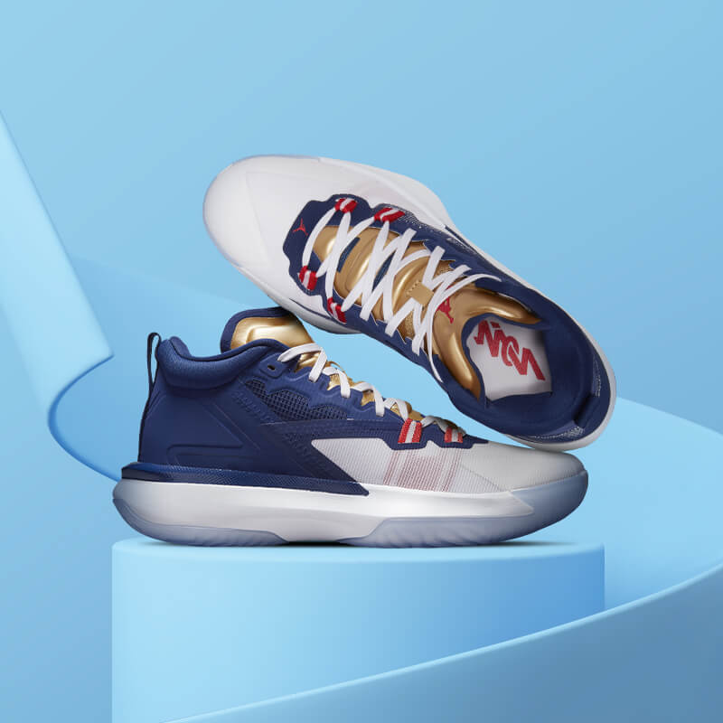 Show your support for Team USA and sport Zion's new summer games-themed sneaker.