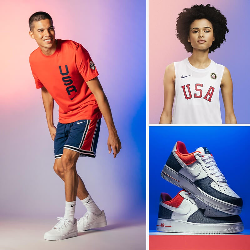 Stay patriotically fly for the Olympics this year in red, white & blue!
