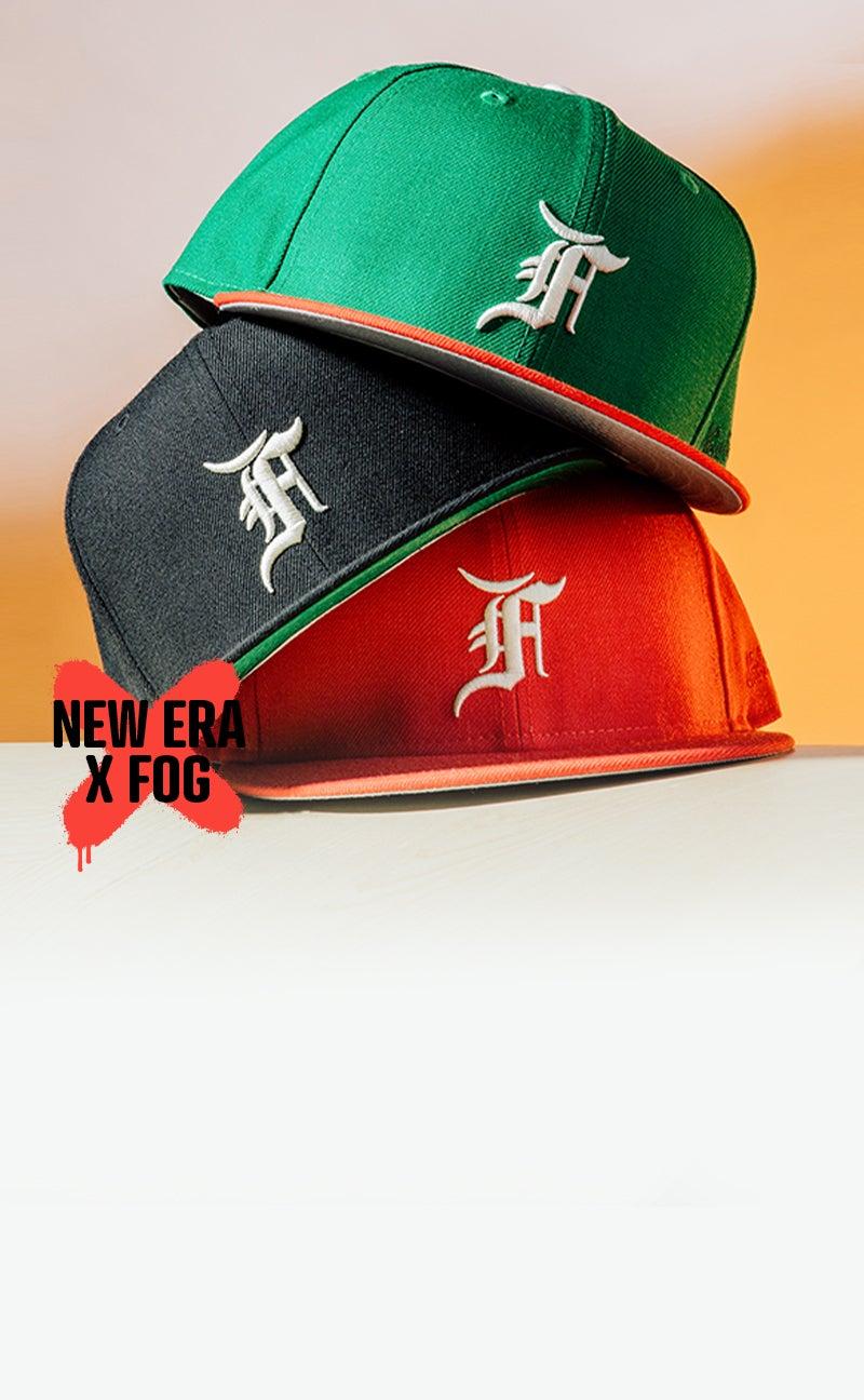 L.A.'s Fear of God and New Era team up for a collection of vintage styled baseball caps.