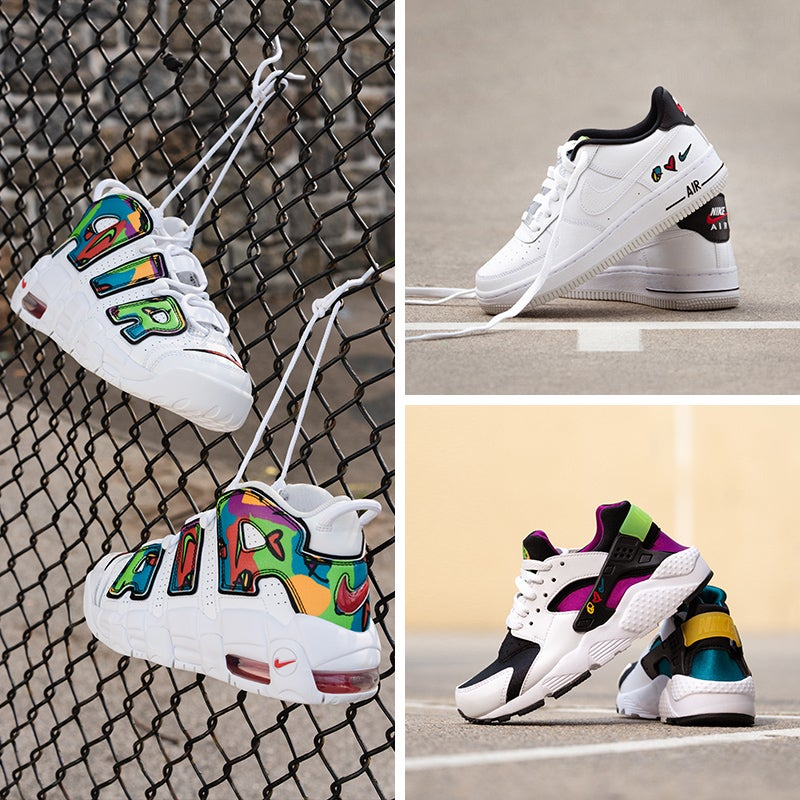 Lace up all-new moods of Nike classics in this multicoloured collection!