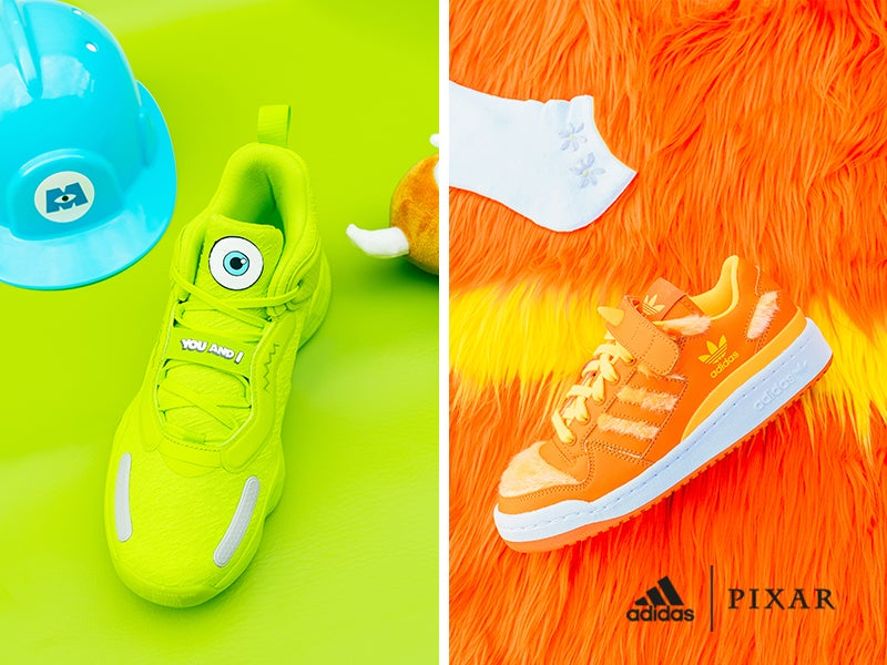 Rock delightfully scary heat with adidas faves inspired by Monsters, Inc.