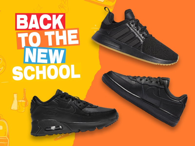 Keep your kids' look flexible with our selection of triple black sneakers!