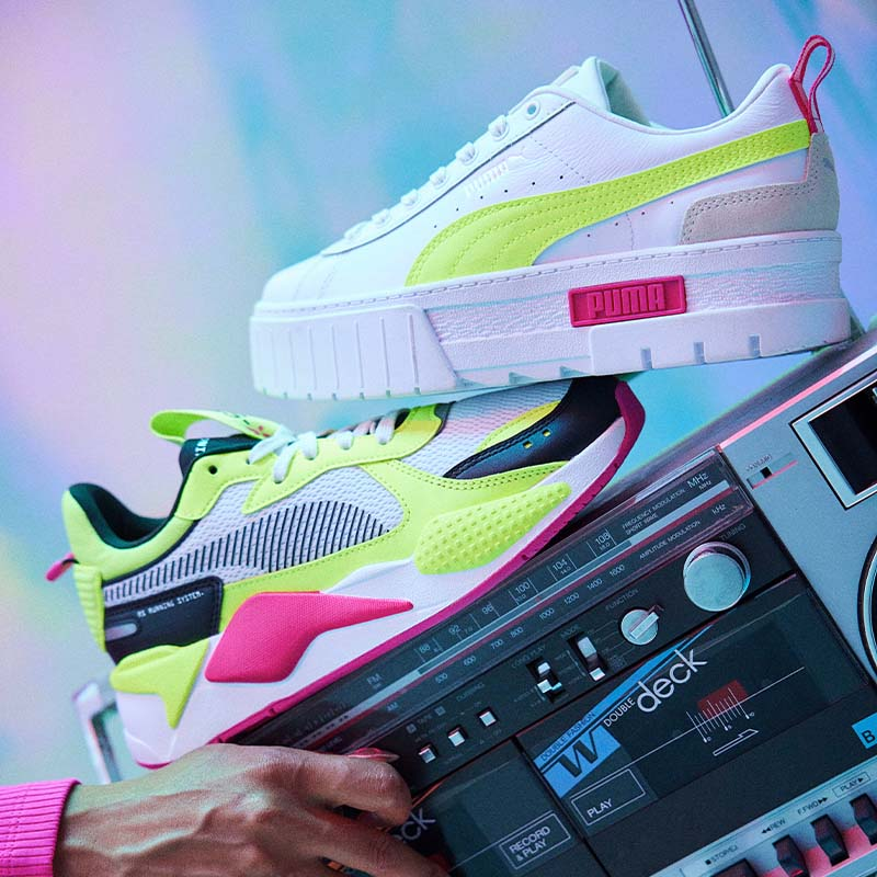 Get energized for this bright & sporty women's kicks collection.