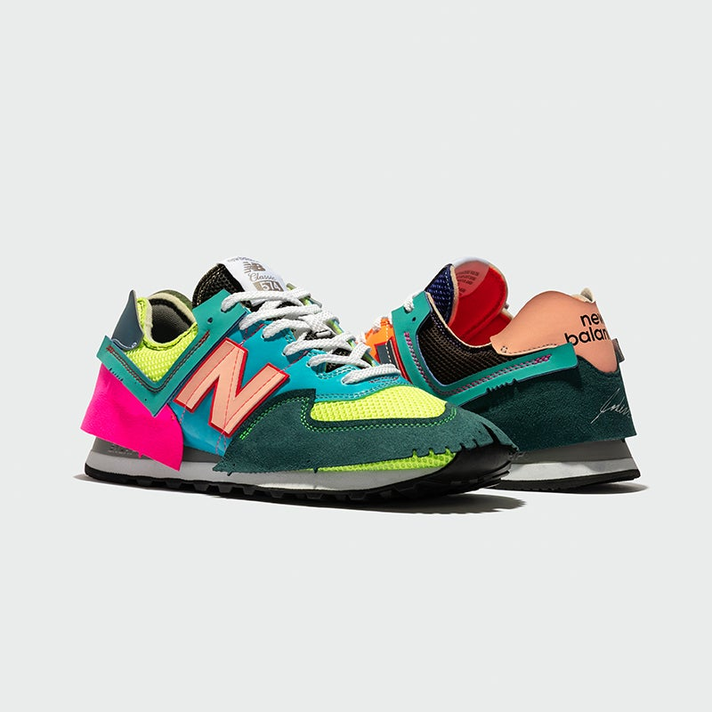 Coming in randomized pairs, each of these NB x Jaden Smith shoes is 100% unique.