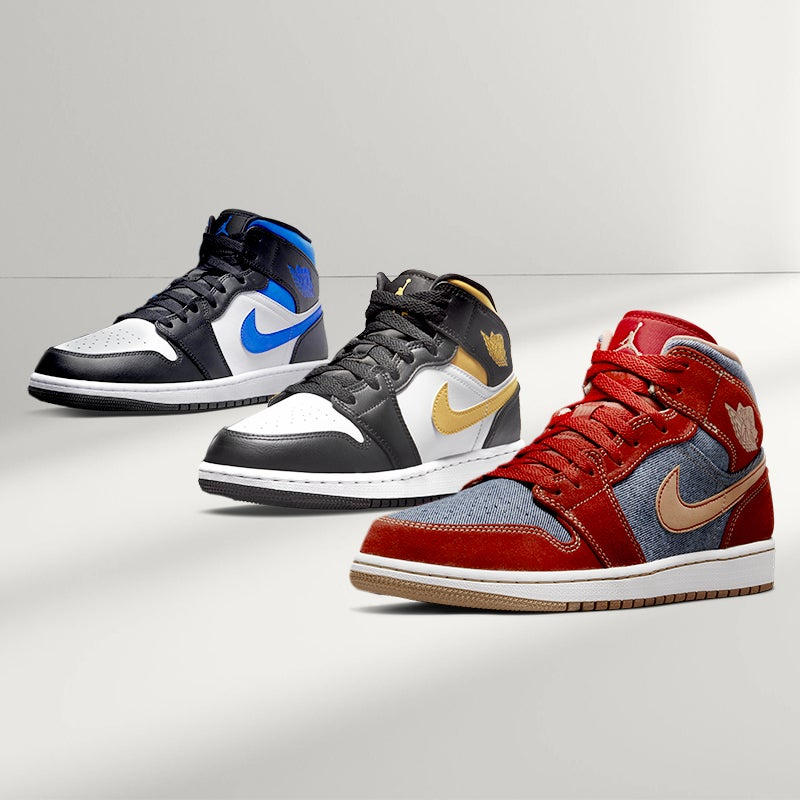 The Jordan Retro 1 is a classic among classics. Find all the latest colourways.