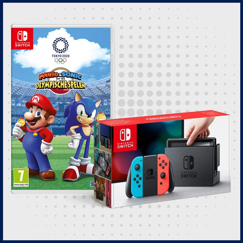 Nintendo Switch + Mario vs Sonic Olympics game