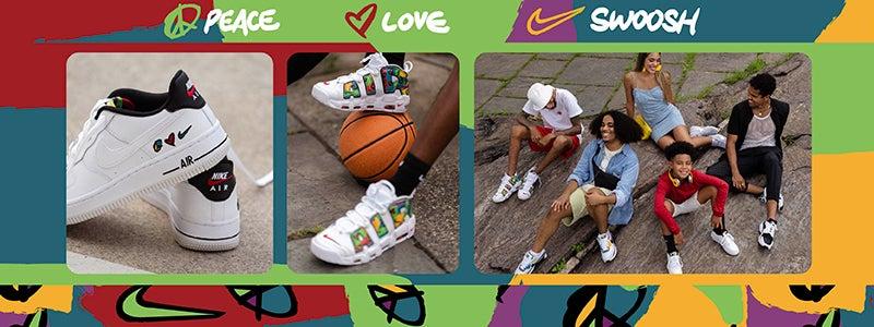 Shop Peace Love and Swoosh Nike