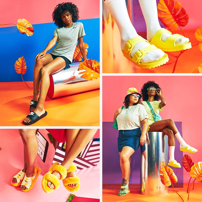 Have your shoe game on chill all summer long in new sandals.