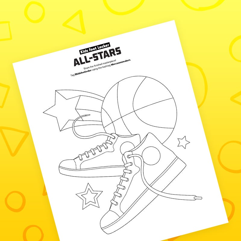 download all-stars coloring page
