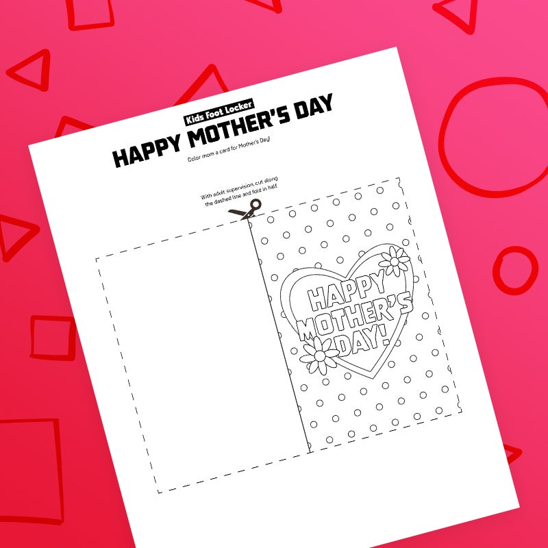 download color mom a card for Mother's day
