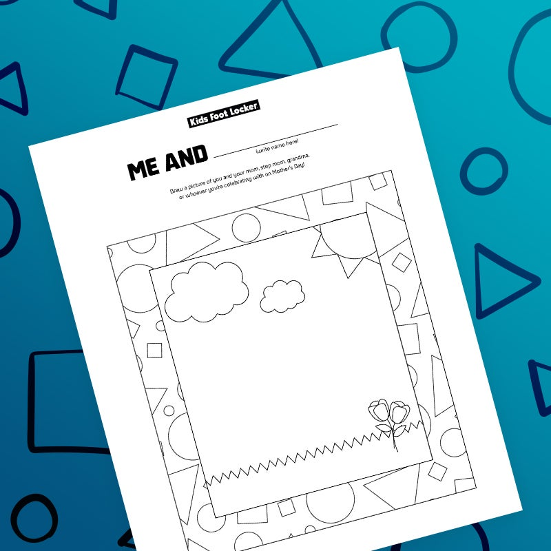 download me and ___ drawing page