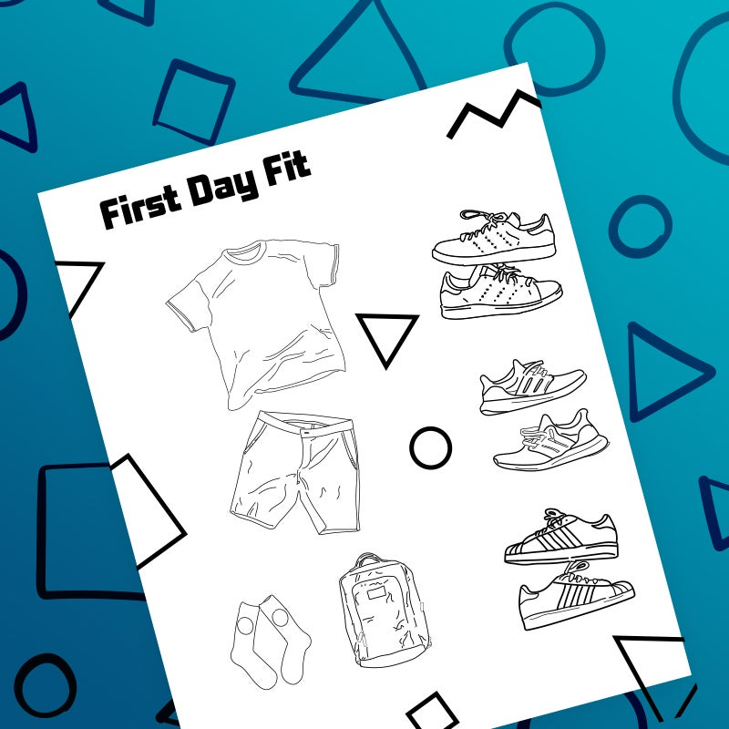 download first day fit coloring page