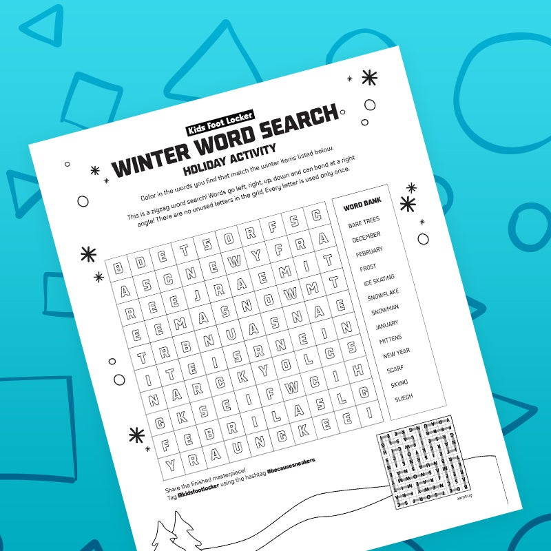 Download Winter Word Search