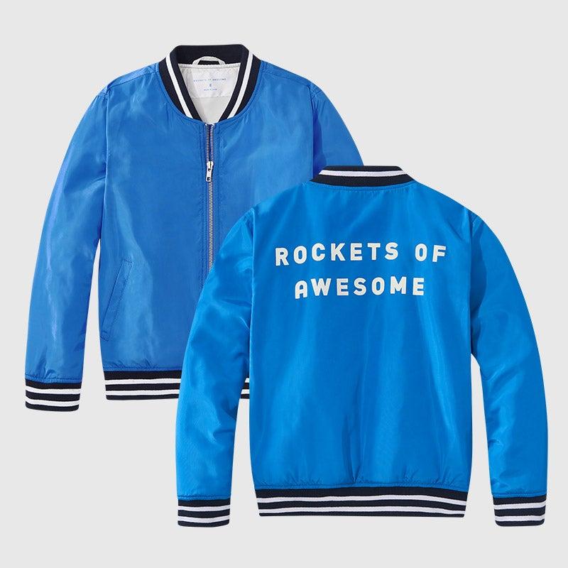 shop electric azure bomber jacket
