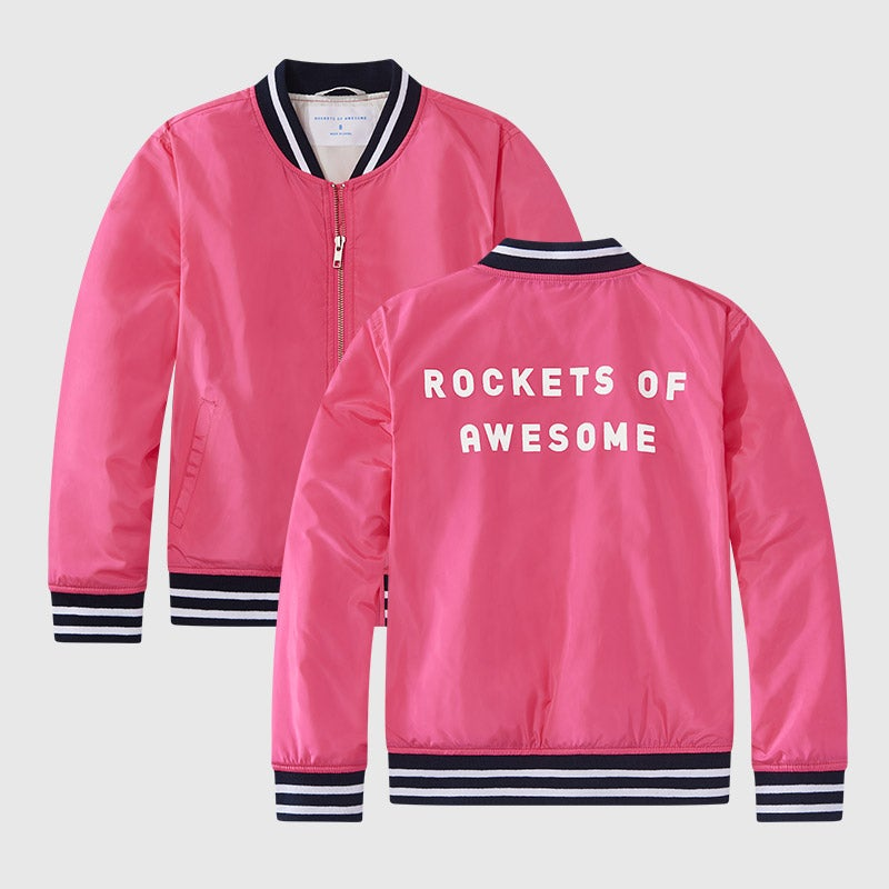 shop flamingo pink bomber jacket