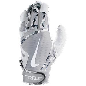 Nike Adult Unisex Huarache Edge Batting Gloves Cool Grey//Wolf Grey//White Size M