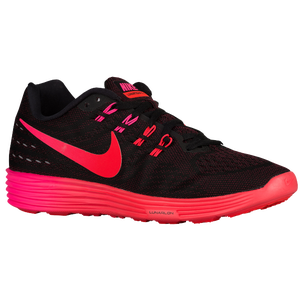 ... nike lunartempo 2 womens running shoes black bright crimson nigh maroon
