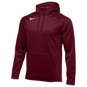 audición Anémona de mar Todo el tiempo  Nike Team Therma Hoodie - Men's - Baseball - Clothing - Dark Maroon/White
