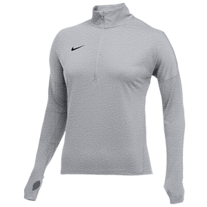 Labor Lograr Tulipanes  Nike Team Dry Element 1/2 Zip Top - Women's - Basketball - Clothing - Wolf  Grey Heather/Black