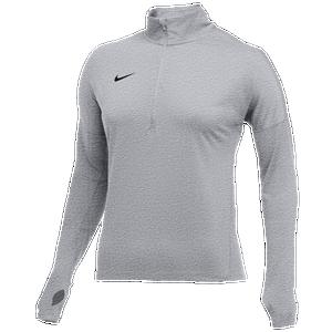 Infectar Almeja Empleado  Nike Team Dry Element 1/2 Zip Top - Women's - Basketball - Clothing - Wolf  Grey Heather/Black