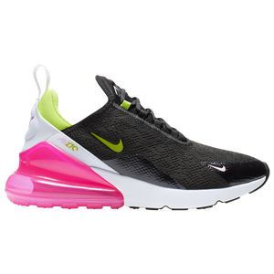 Nike Air Max 270 Women S Casual Shoes Black Cyber Pink Rise