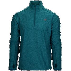 ac4da0521a1db New Balance Transit 1/4 Zip Pullover Top - Men's - Turquoise/Dark Grey