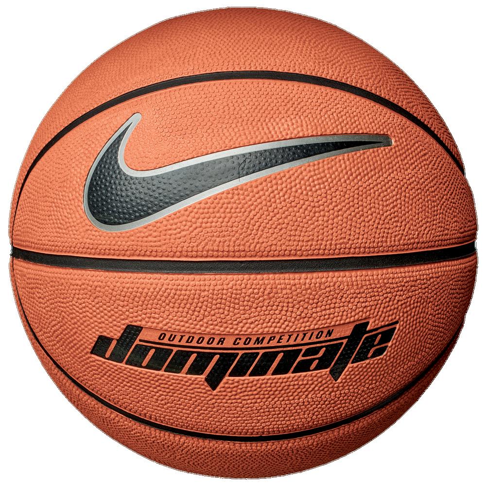 Nike Dominate Basketball / Amber/Black/Metallic Platinum