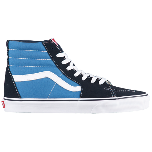Classic Styling for Today's Skaters The Vans Sk8-Hi high-top skate shoes offer all the ankle support you need to land your kick- and heel-flips securely without rolling an ankle. Further securing your ankle are the padded collars that insulate them from rogue boards around the skate park. Durability is no concern in these high-top skateboarding shoes, as their canvas and suede uppers are strong enough to handle daily skating. Wither their waffle patterned outsoles, these high-top sneakers securely grip your board, allowing you to focus on your next trick. Style Skaters Crave The Vans Sk8-Hi's high-top design is already a unique take on the classic skateboarding shoe, but it also boasts several color options to match your personality or your board. Enhancing the unique looks of these skate shoes are their thick laces that deliver an old-school look and a secure tie every time. Plus, the iconic Vans wave on the sides of the shoes offer stylish contrast to break things up. Vans Sk8-Hi features:  Canvas upper construction keeps your kicks in great shape.  Thick laces deliver a secure fit without constant adjustment.  Reinforced toe area ensures durability.  Superior board grip in all conditions with a waffle pattern outsole.