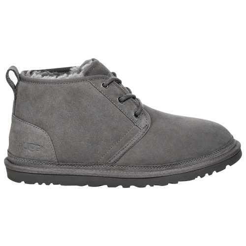 Classic style, unparalleled comfort. The UGG Men\\\'s Neumel style is made in partnership with UGG\\\'s HERproject an initiative designed to help educate and empower women who are apart of UGG\\\'s supply chain. Full-grain leather, soft suede or nubuck upper with 17mm wool lining provides durable comfort. Insole consists of cushioning foam lined with 17mm of UGG pure wool that wicks away moisture. Lightweight and flexible molded EVA outsole has a patented tread design for traction on a multitude of surfaces. Treadlite by UGG outsole for comfort. Click Here to view the UGG Counterfeit Protection website.