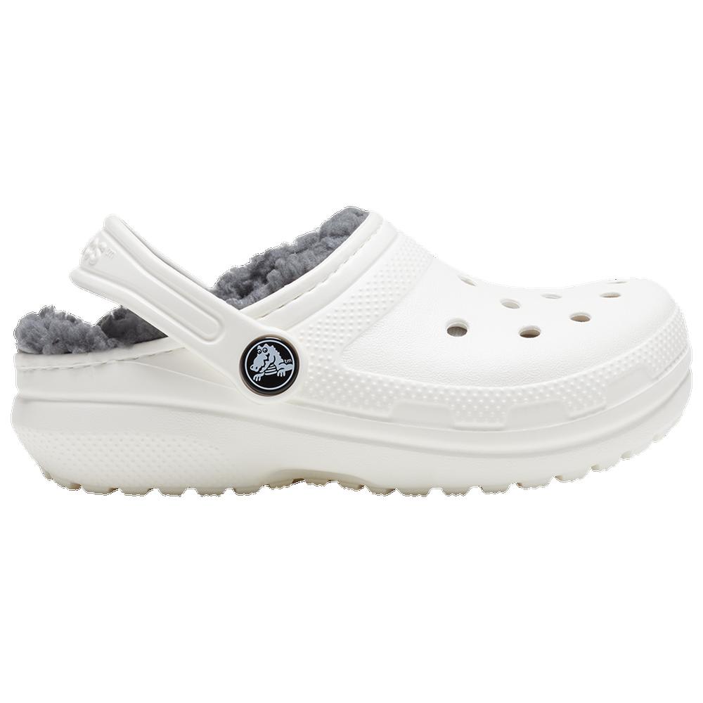 Crocs Lined Clog - Boys Grade School / White/Gray