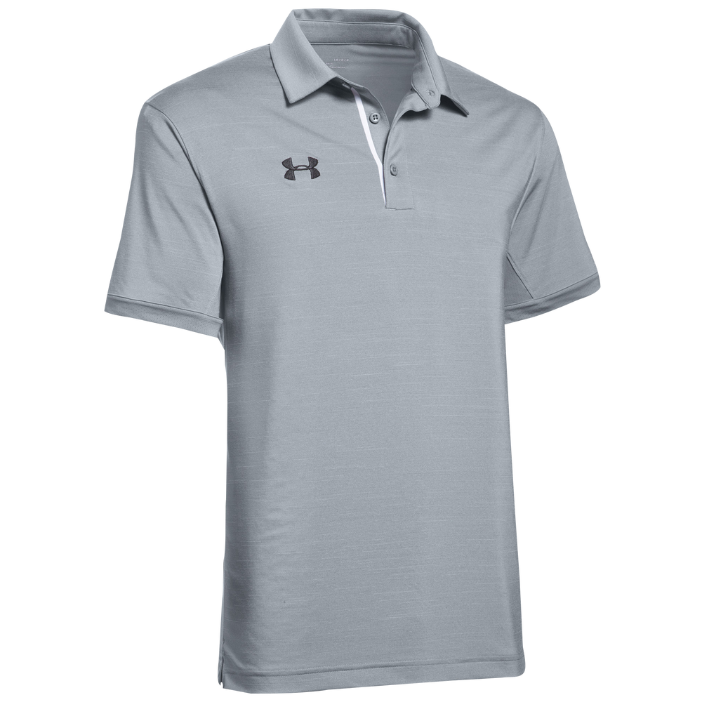 Under Armour Team Elevated Polo - Mens / Steel/Black