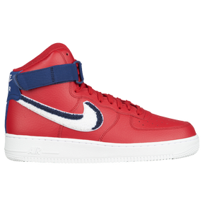 nike red air force 1 mid trainers nz
