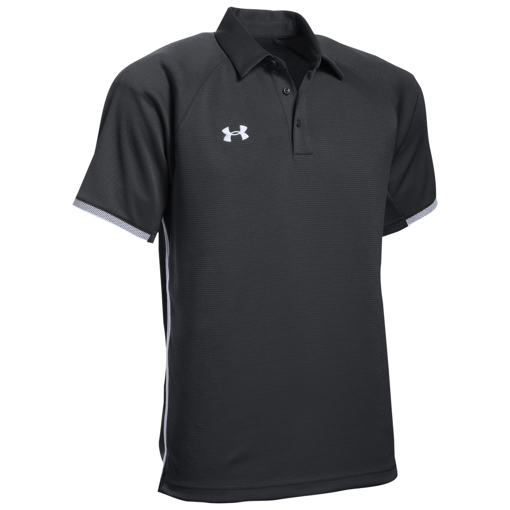 Under Armour Team Rival Polo - Mens / Black/White