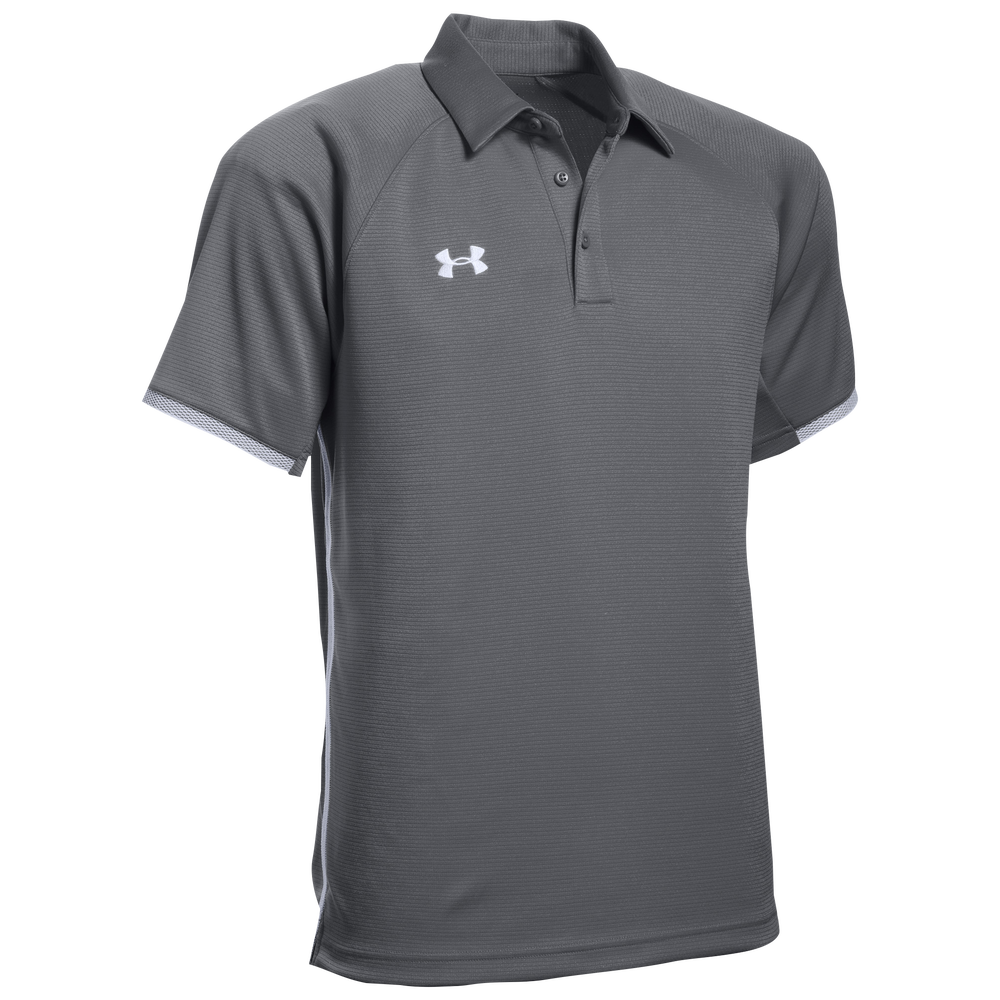 Under Armour Team Rival Polo - Mens / Graphite/White