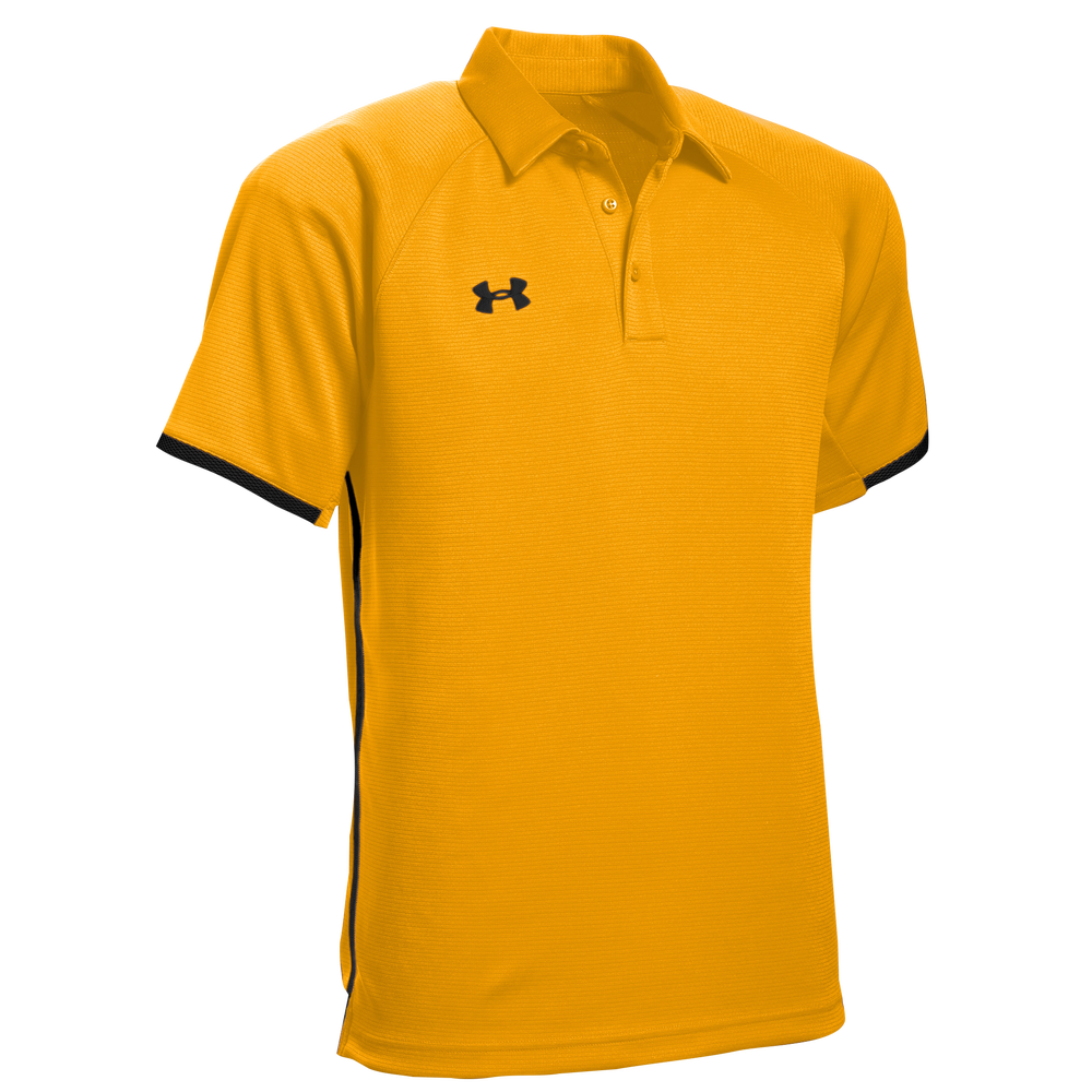 Under Armour Team Rival Polo - Mens / Steeltown Gold/Black