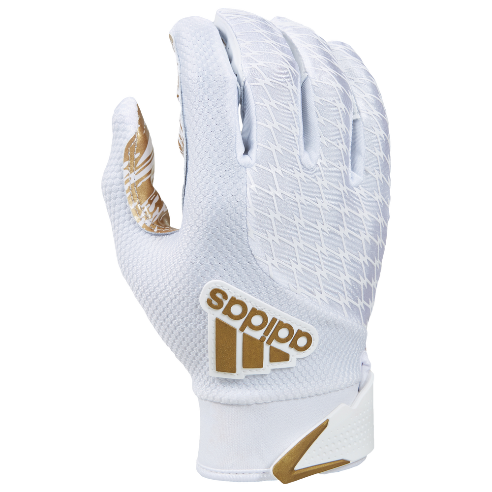 adidas adiFAST 2.0 Receiver Gloves - Mens / White/Metallic Gold