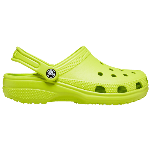 Join the comfort revolution! Pull-on a pair of the bright and ultra-comfortable Crocs Classic clogs to give your feet a treat. With an array of colors to choose from, there\\\'s a pair for every occasion. Water-friendly and secure, these kicks can be worn even on the rainiest days. Let your feet breathe easy in these well-ventilated clogs that go with any outfit. Crocs Classic features: Organic upper provides a comfortable fit and offers easy cleaning and quick drying. Lightweight fit and buoyancy ensure all-day comfort. Ventilation ports provide maximum breathability and help shed water and debris. Pivoting heel straps ensure a secure fit. Customizable with Jibbitz charms for added style. Flexibility ensures 360-degree comfort.
