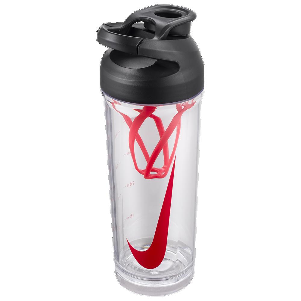 Nike TR Hypercharge Straw Bottle 24 OZ / Clear/Bright Crimson