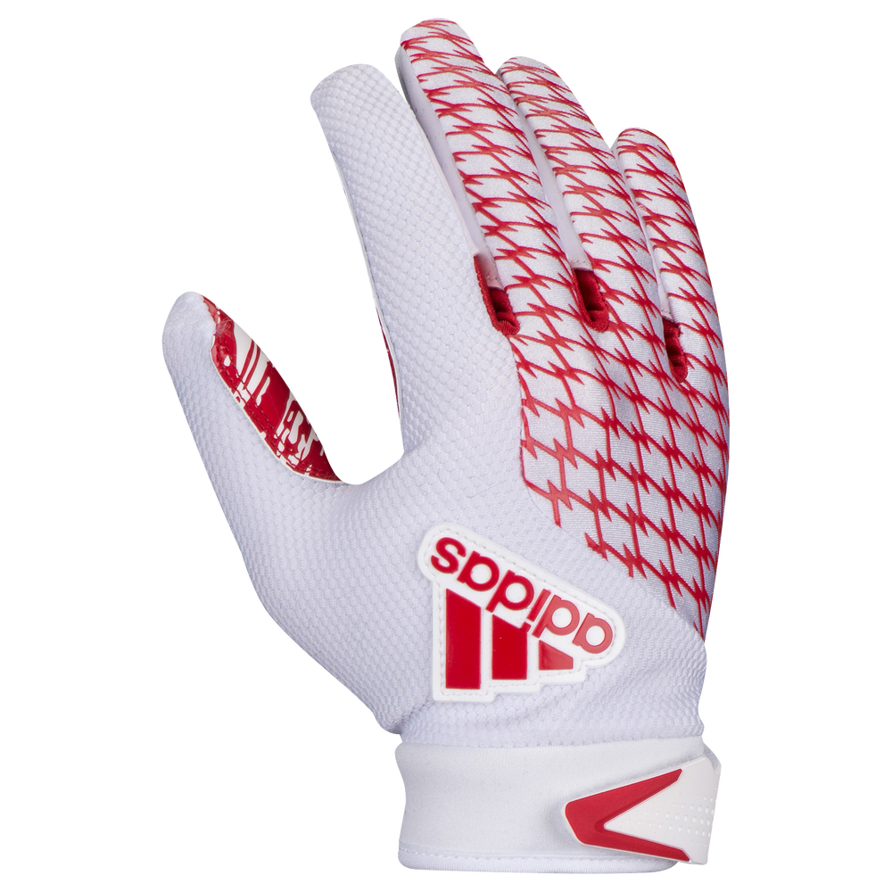 adidas adiFAST 2.0 Receiver Gloves - Mens / White/Red