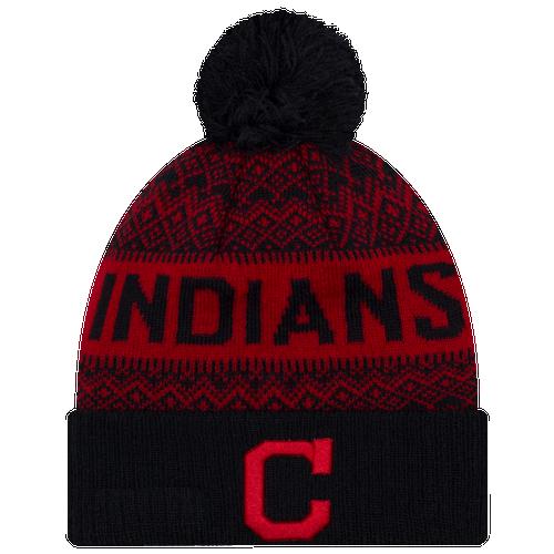 97a66891085 Cleveland Indians New Era MLB Wintry Cuff Pom Knit - Mens - Multi