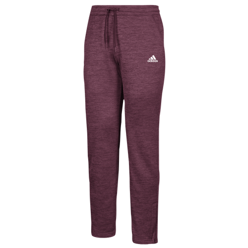 adidas Team Issue Fleece Pants - Womens - Maroon/White