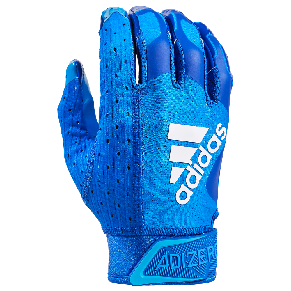 adidas adiZero 9.0 Receiver Gloves - Mens / Royal/N/A/N/A | Highlighter