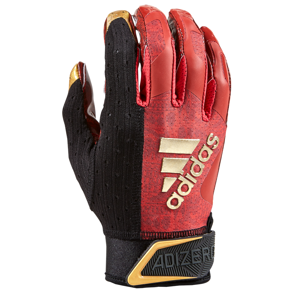 adidas AdiZero 9.0 New Reign Receiver Gloves - Mens / Black/Red