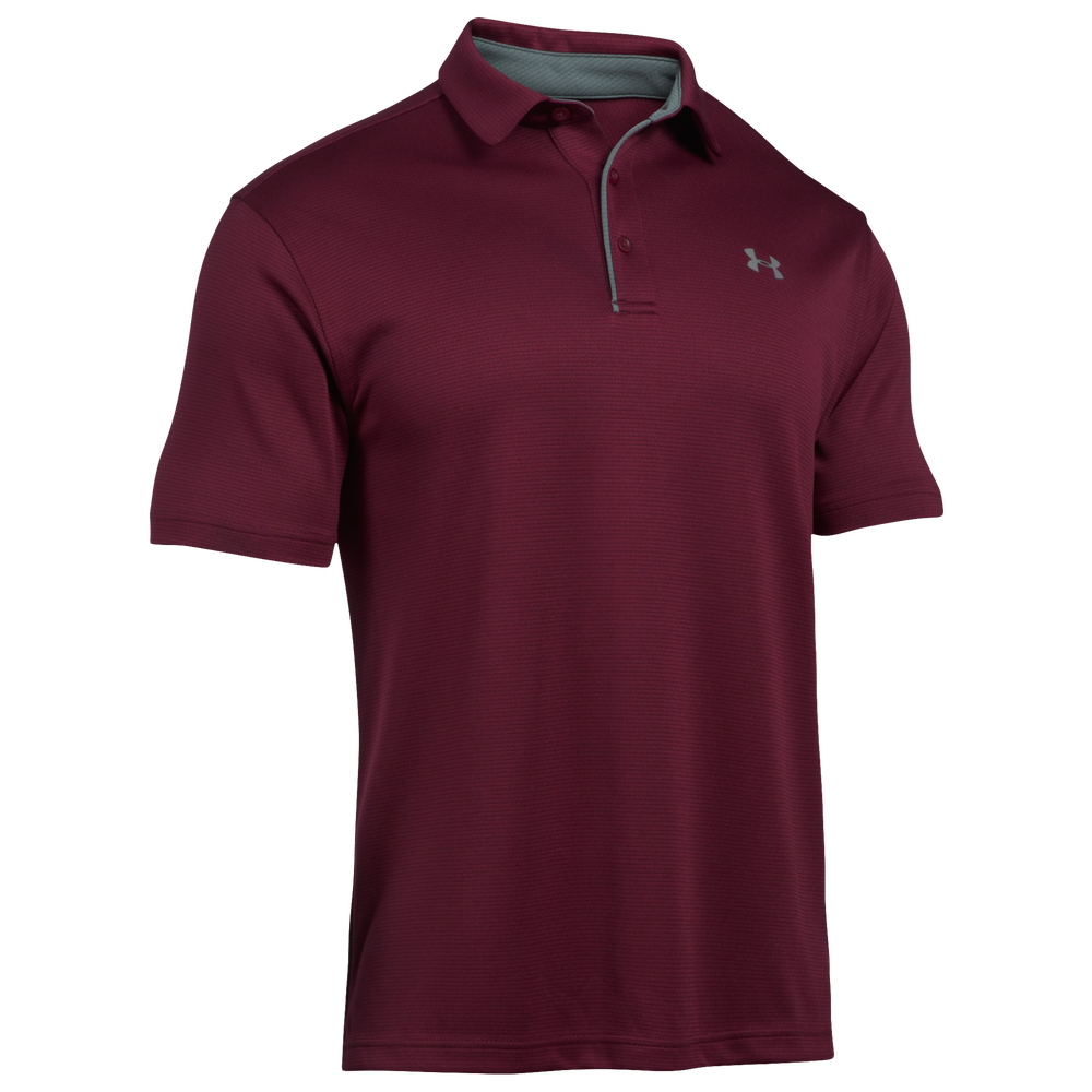 Under Armour Tech Golf Polo - Mens / Maroon/Graphite/Graphite