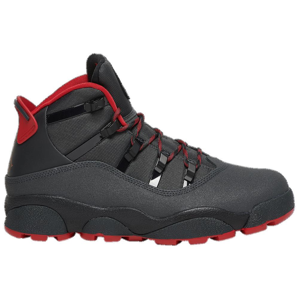 Jordan 6 Rings Winterized - Mens / Anthracite/Black/Gym Red