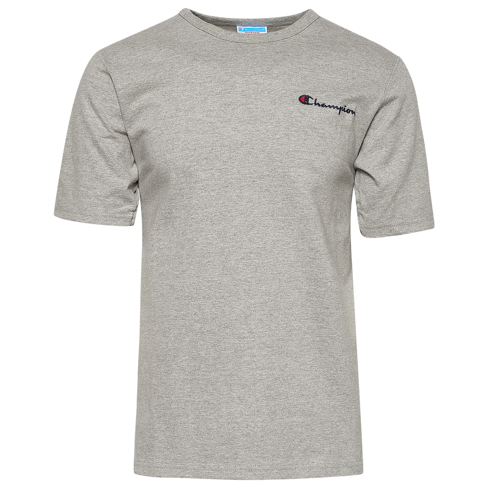 Champion Script Embroidered T-Shirt - Mens / Oxford Grey